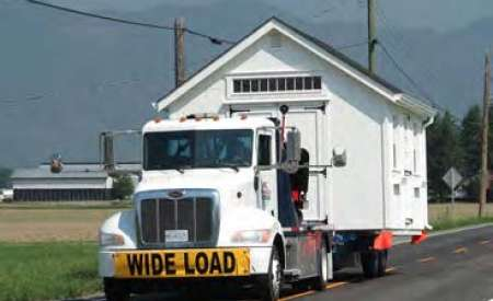 Taking a structure on a truck - wide load