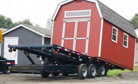 Delivering structure with trailer